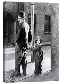 Tela  THE KID, Charles Chaplin, Jackie Coogan, 1921
