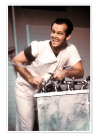 Poster Premium Jack Nicholson in One Flew Over the Cuckoo's Nest