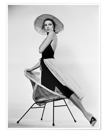 Poster Premium  Grace Kelly with hat