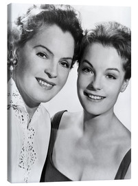 Stampa su tela  Romy Schneider with her mother Magda Schneider