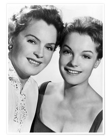 Poster  Romy Schneider with her mother Magda Schneider