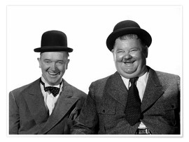 Poster Premium  Stan Laurel and Oliver Hardy