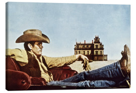 Stampa su tela  James Dean as a cowboy
