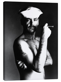 Stampa su tela  Jack Nicholson with sailor hat and cigar