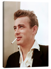Stampa su tela  James Dean with cigarette