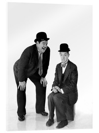 Stampa su vetro acrilico  Laurel and Hardy