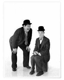 Poster Premium  Laurel and Hardy