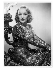Poster Premium  Marlene Dietrich in a sequined dress