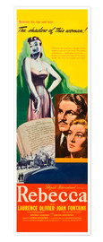 Poster Premium  REBECCA, from left: Laurence Olivier, Joan Fontaine, 1940.
