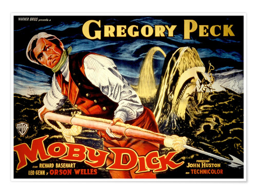 Poster Premium MOBY DICK, Gregory Peck, 1956