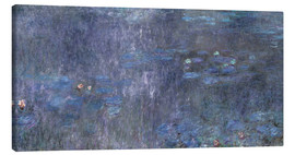 Stampa su tela  Water Lilies, Reflection of trees 2 - Claude Monet