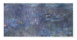Poster  Water Lilies, Reflection of trees 2 - Claude Monet