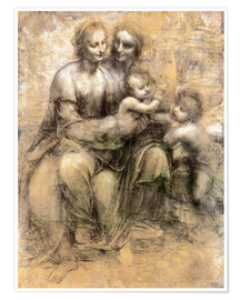 Poster Premium  The Virgin and Child with Saint Anne - Leonardo da Vinci