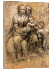 Stampa su legno  The Virgin and Child with Saint Anne - Leonardo da Vinci
