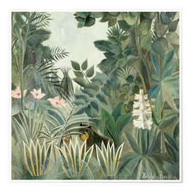 Poster  Equatorial jungle - Henri Rousseau