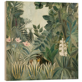 Legno  Equatorial jungle - Henri Rousseau
