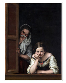 Poster Premium  Women from Galicia at the Window - Bartolome Esteban Murillo