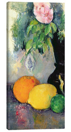 Stampa su tela  Flowers and fruits - Paul Cézanne