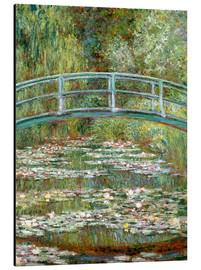 Alluminio Dibond  the japanese bridge - Claude Monet