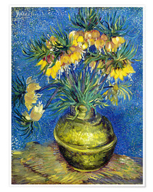Poster  Fritillaries in a Copper Vase - Vincent van Gogh