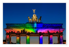 Poster Premium  Berlin skyline at the Brandenburg Gate - Frank Herrmann
