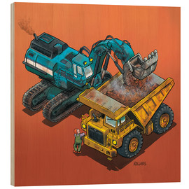 Legno  Excavator and trucks - Helmut Kollars