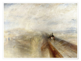 Poster  Rain, Steam and Speed - Joseph Mallord William Turner