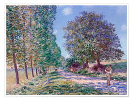 Poster Premium Poplar Avenue at Moret on the Loing