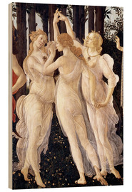 Stampa su legno  The Three Graces - Sandro Botticelli