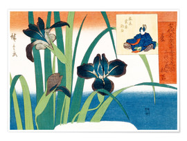 Poster Premium Summer, irises at Yatsuhashi