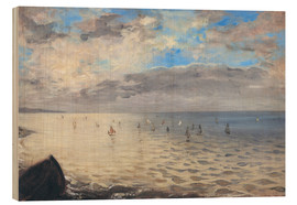 Stampa su legno  The sea, seen from the heights of Dieppe - Eugene Delacroix