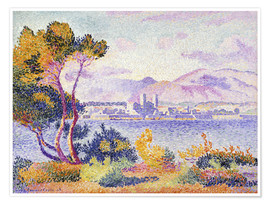 Poster Premium  Antibes, Nachmittags (Antibes, Apres-midi). 1908. - Henri Edmond Cross