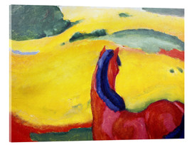 Stampa su vetro acrilico  Horse in the countryside - Franz Marc