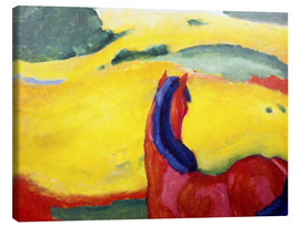 Stampa su tela  Horse in the countryside - Franz Marc