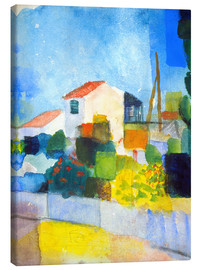 Stampa su tela  The bright house (first version) - August Macke