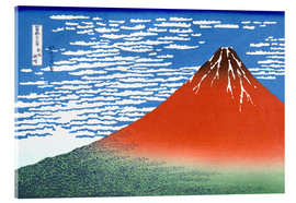 Vetro acrilico  The Fuji in clear weather - Katsushika Hokusai