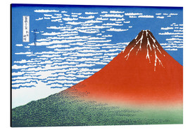 Alluminio Dibond  The Fuji in clear weather - Katsushika Hokusai