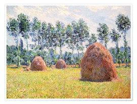 Poster Premium  Haystacks at Giverny - Claude Monet