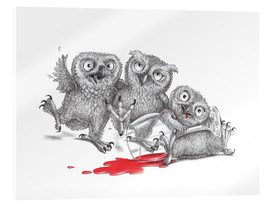 Stampa su vetro acrilico  Party - Tipsy Owls - Stefan Kahlhammer