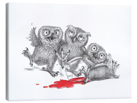 Stampa su tela  Party - Tipsy Owls - Stefan Kahlhammer