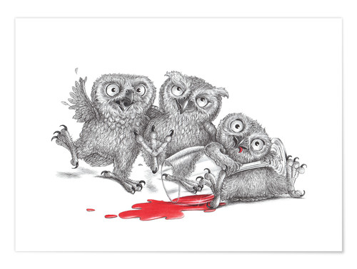 Poster Premium Party  - Tipsy Owls