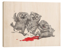 Stampa su legno  Party - Tipsy Owls - Stefan Kahlhammer