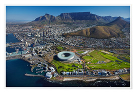 Poster Premium  Cape Town Stadium e Table Mountain - David Wall