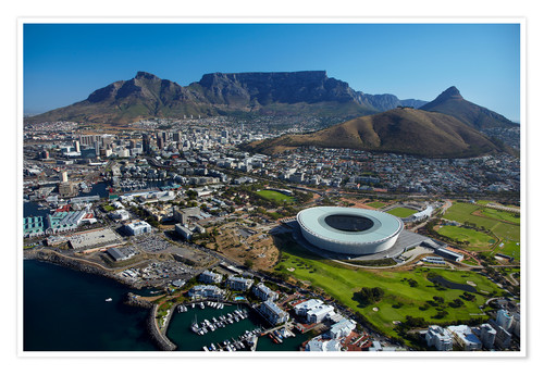 Poster Cape Town Stadium and Table Mountain