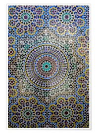 Poster  Mosaic wall for fountain - Kymri Wilt