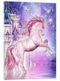 Vetro acrilico  Pink Magic Unicorn - Dolphins DreamDesign