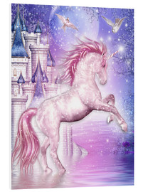 Stampa su schiuma dura  Pink Magic Unicorn - Dolphins DreamDesign