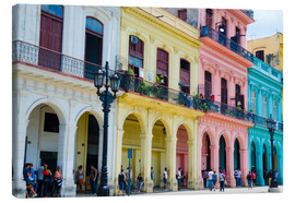 Tela  Pastel-colored building in Havana - Bill Bachmann