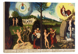 Stampa su legno  Fall and redemption of man - Lucas Cranach d.Ä.