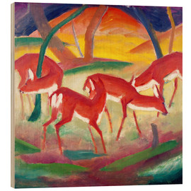 Legno  Red deer I. - Franz Marc